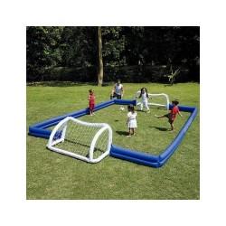 Voetbalveld/stadion makkelijk opbouwen + afbreken